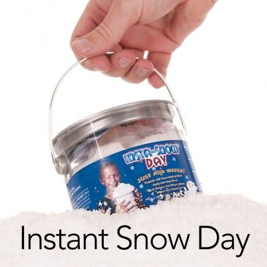 Instant Snow Day - Make 6 gallons of fake, fluffy Insta-Snow in seconds | Steve Spangler Science