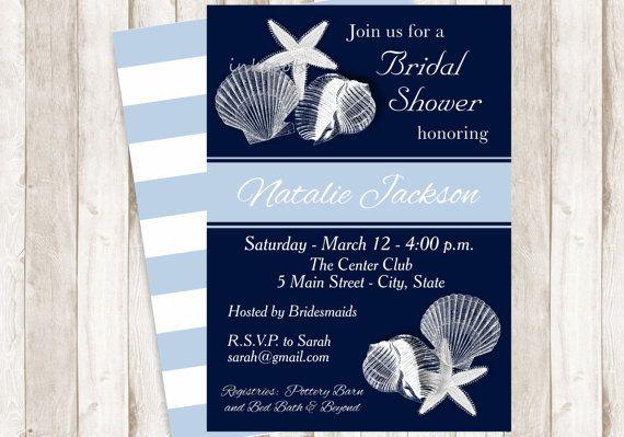 Nautica/nubilato invito stampabile nuziale di invitesbyinkspots