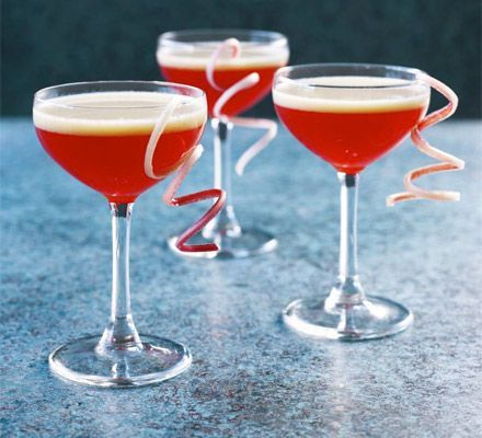 An elegant vodka-based drink that'll wow your guests - it's made with creamy advocaat liqueur and homemade fruit syrup