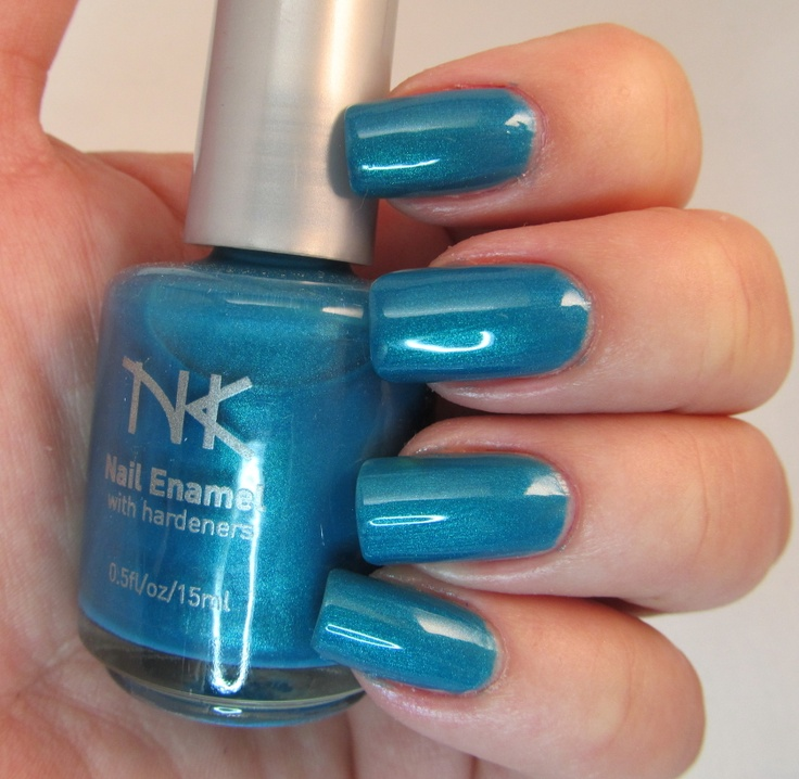 January Nail Colors: JANUARY 2013: NK NAIL ENAMEL IN THE COLOR: Teal