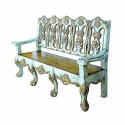 Merveilleux Antigua Furniture Guild Carved And Gilded 18th Century Reproduction  Chippendale Bench