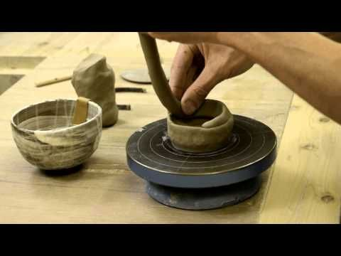 (12) making a macchawan by Fujihira Pottery co.,ltd. - YouTube