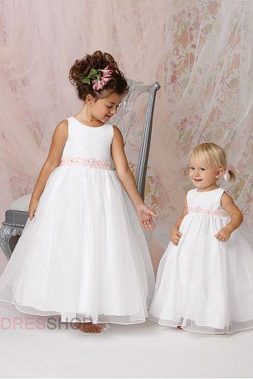 Organza Floor-length Cute Flower Girl Dresses