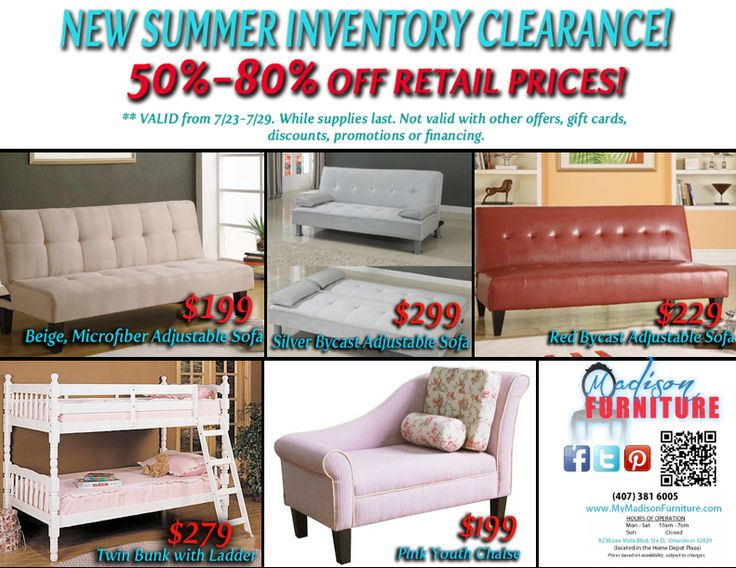 Newest Summer Inventory Featuring Off Retail Pricing On Our Modern And Contemporary  Furniture! Orlando, FL 32812 At Madison Furniture