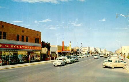 old pictures of woolworth odessa texas | Street Scene, Odessa, Texas 1950s www.shawnastringer.com
