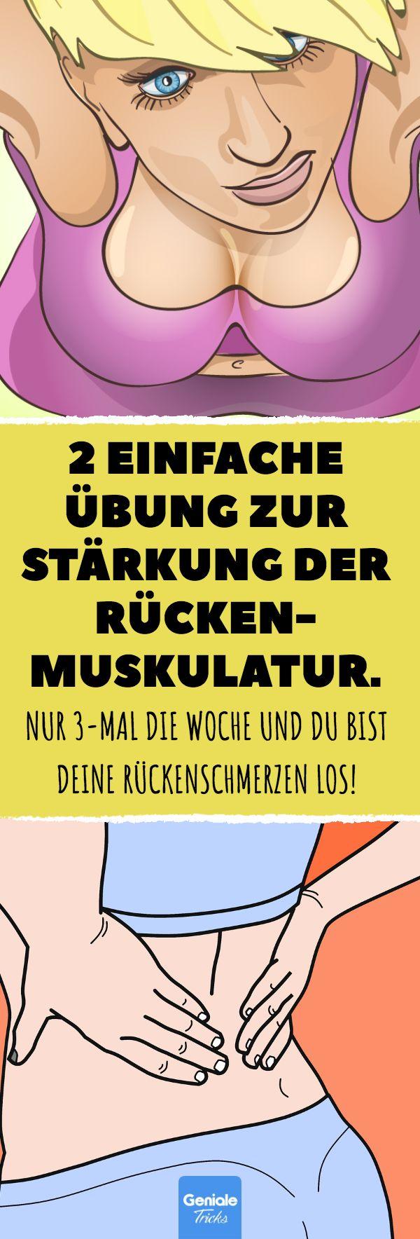 2 einfache Übung zur Stärkung der Rückenmuskulatur. #rücken #gesundheit #schmerzen #wirbelsäule #bandscheiben #yoga – Geniale Tricks