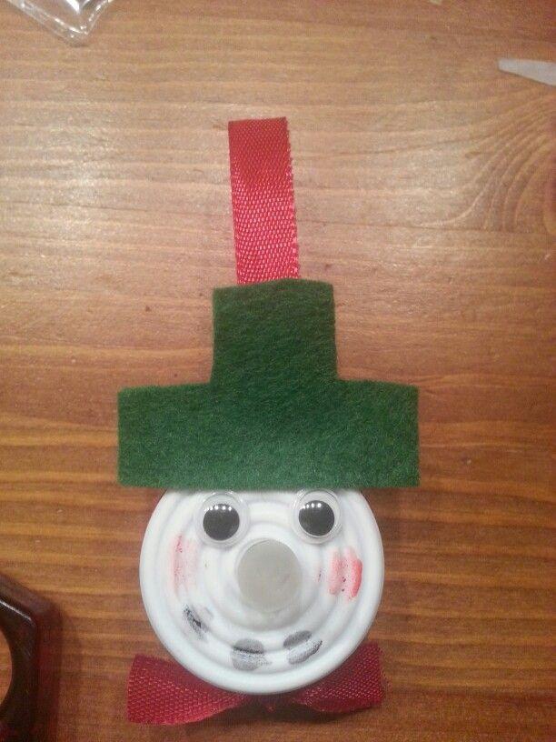 Sneeuwpop van led waxinelichtje