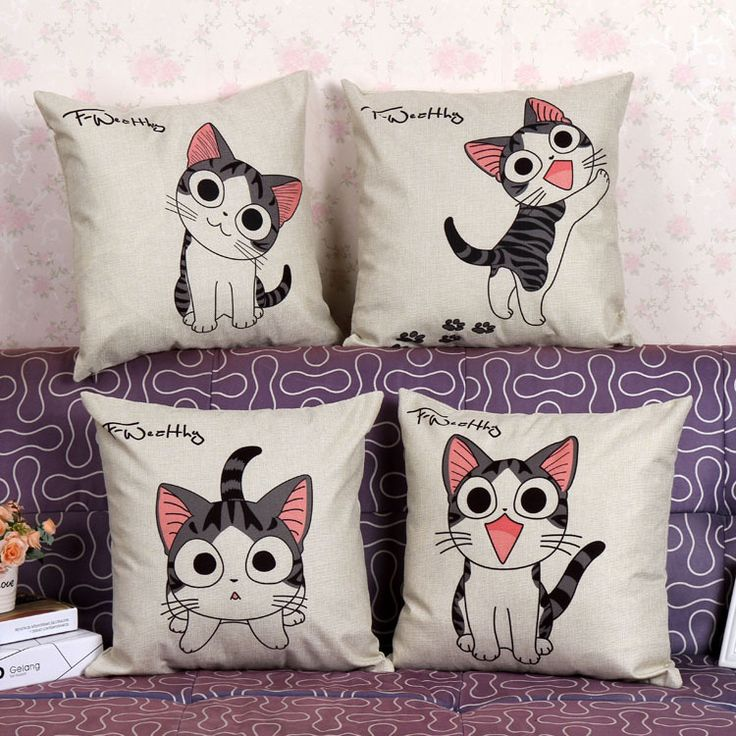 Printed cartoon cat household linen pillow, pillowcase,Home Textile-Pillow Case // FREE Shipping //     Buy one here---> https://thepetscastle.com/printed-cartoon-cat-household-linen-pillow-pillowcasehome-textile-pillow-case/    #lovecats #lovepuppies #lovekittens #furry #eyes #dogsitting