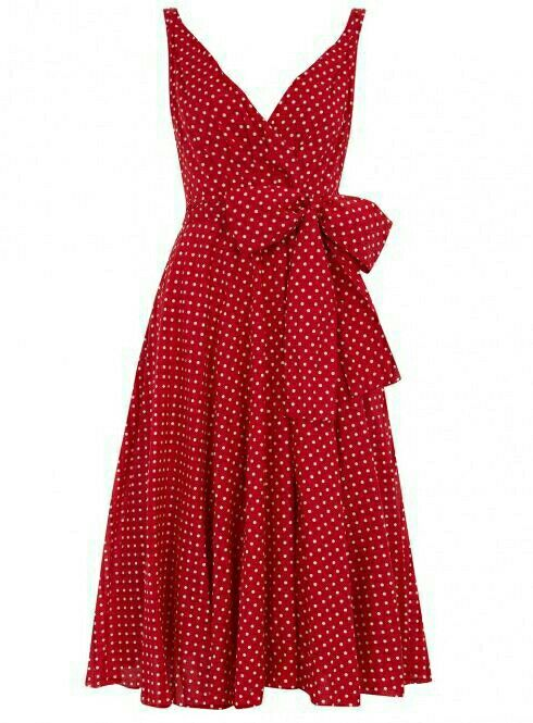 I like and want this polka dot red dress. Perfect for summer.