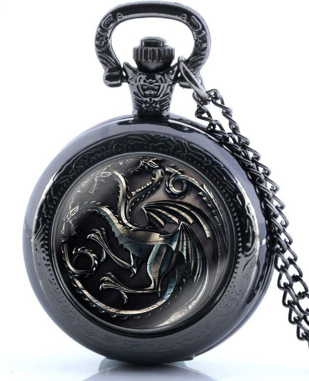 Like and Pin if you want this Game of Thrones House Targaryen Pocket Watch  Buy one here - http://www.worldofthrones.net/shop/game-of-thrones-house-targaryen-pocket-watch/    FREE Shipping Worldwide!