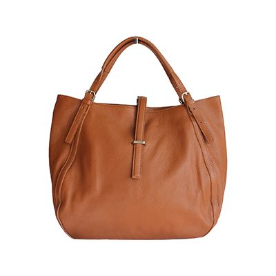 Sabrina Italian Tan Leather Hobo Bag - £64.99