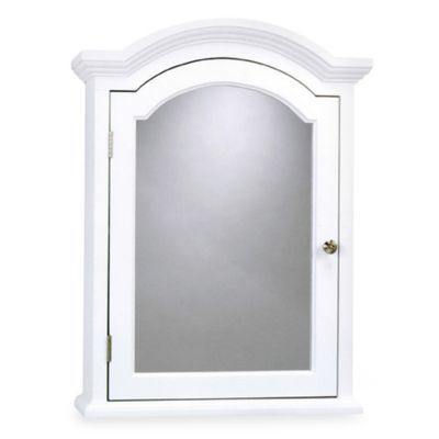 Photo Gallery Website Buy Arch Crown Molding White Medicine Cabinet from at Bed Bath u Beyond This traditional white finish medicine cabinet features polished chrome hardware