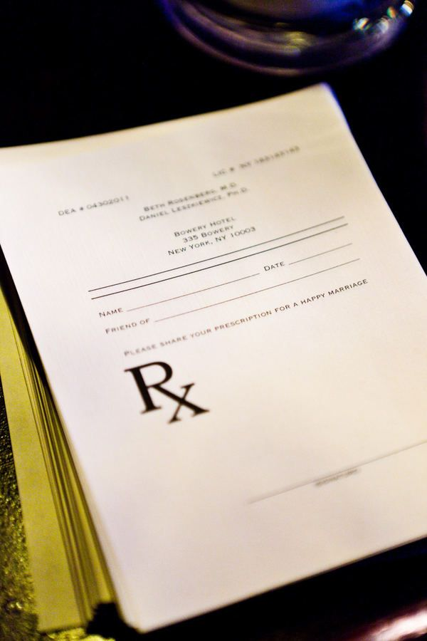 Prescription for a happy marriage RX pad