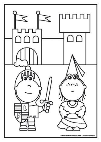 Ridder Frokkie en jonkvrouw Lola De ridder en jonkvrouw staan voor hun kasteel. Zien ze er niet mooi uit!