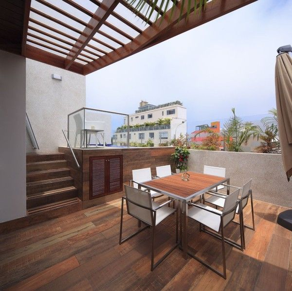 Outdoor decking... with tiles! These are such a smart move for any home or apartment