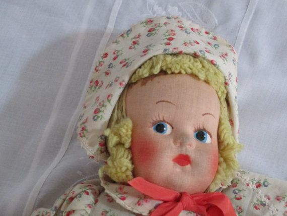 Cloth doll Mask Face c. 1940s  MUSICAL By Gatormom13 by gatormom13, $65.00