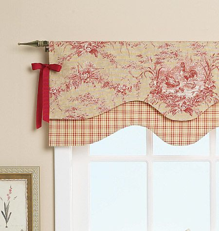 Simple Valance Idea With Lots Of Impact From Beverly Feltner Via Butterick A