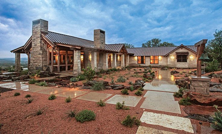 Ranch Style Home Ranch House Exterior Texas Hill Country House Plans Texas Style Homes