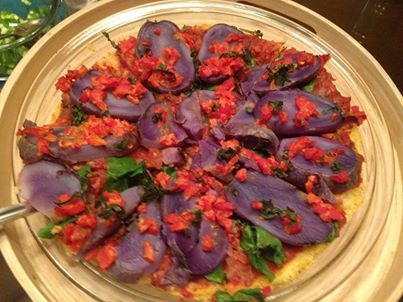 ... Pizza with Peppers. | Recipes | Pinterest | Polenta Pizza, Purple