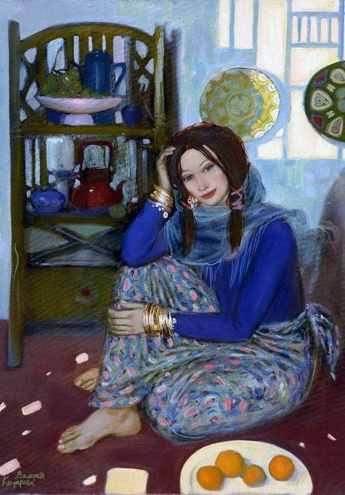 Painting by Russian artist Valeria Kotsareva