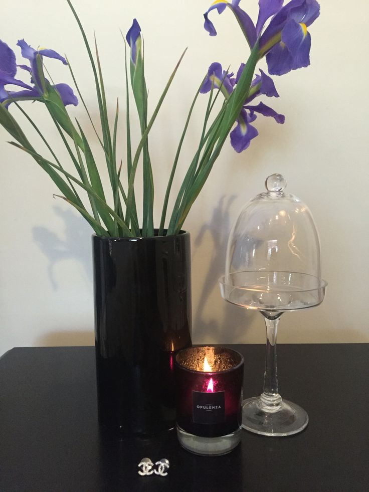 Luxury soy scented candle in black, www.opulenza.com.au