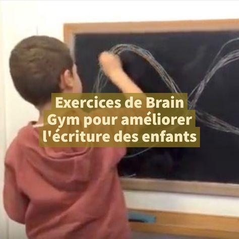 Celia Cheynel, graphothérapeute, nous présente des exercices de Brain Gym© (gymnastique du cerveau) pour aider les enfants qui souffrent de problèmes d'écriture. Présentés sous forme de jeux, ils sont souvent un premier pas dans la prise en charge de la dysgraphie.