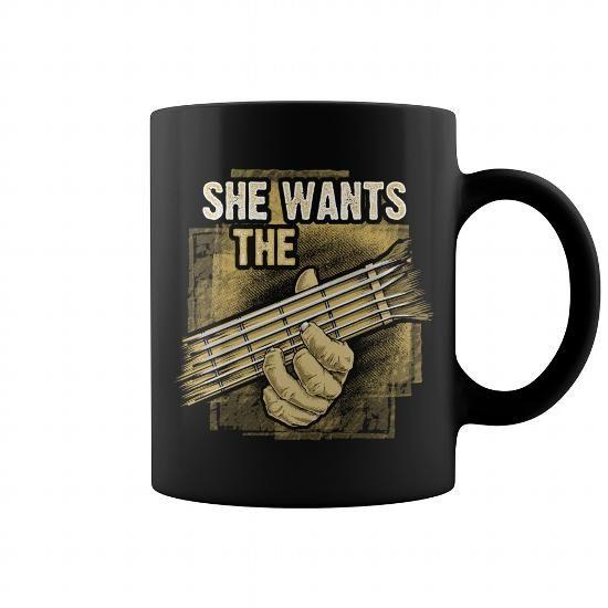 She Wants The D Chord Mug #mugs #coffee #coffeemugs #guitar