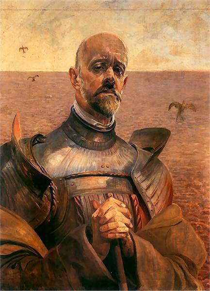 Jacek Malczewski - Autoportret w zbroi, 1919