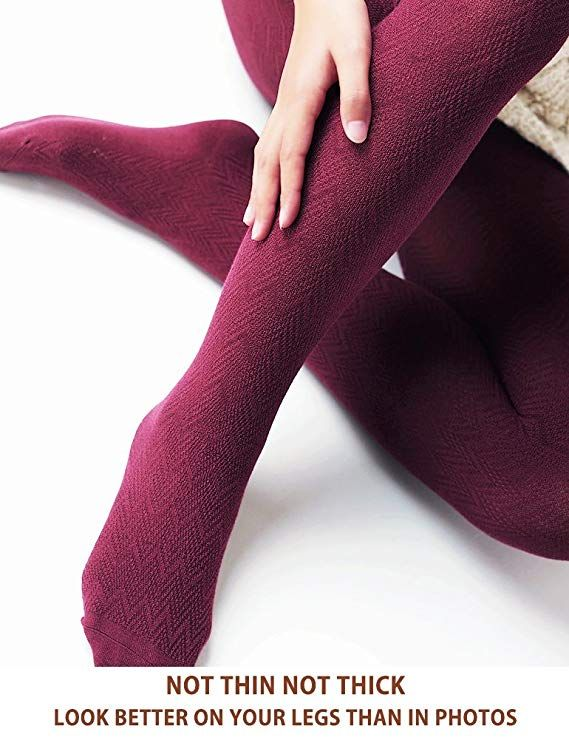 b4f8fd1c2 VERO MONTE Modal   Cotton Opaque Patterned Tights for Women - Knitted Tights  at Amazon Women s Clothing store
