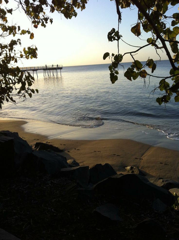 The lovely beach view in Hervey Bay