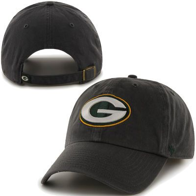 Mens Green Bay Packers '47 Brand Charcoal Cleanup Adjustable Hat