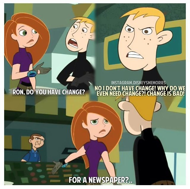 I totally remember when Ron was going through his fear of change fit and the whole growing up thing. Poor Ron. At least he will always have Rufus...
