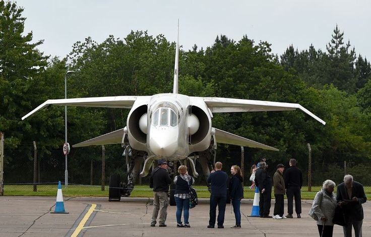 Ill fated British TSR2 prototype on a rare outing on the tarmac, from the Cold War display at the RAF Cosford Museum.