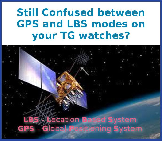 Check the difference of GPS and LBS modes on your Timely Guardian watch.