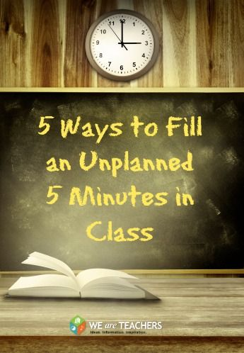 Time-fillers for the classroom: 5 five-minute ideas. For more ideas follow http://www.pinterest.com/angelajuvic/for-teachers/