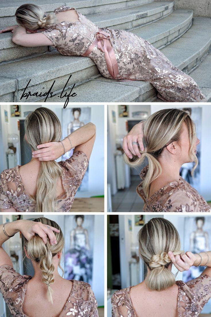 11 Schritte Frisuren-Anleitung: Eleganter Dutt im Nacken - braids