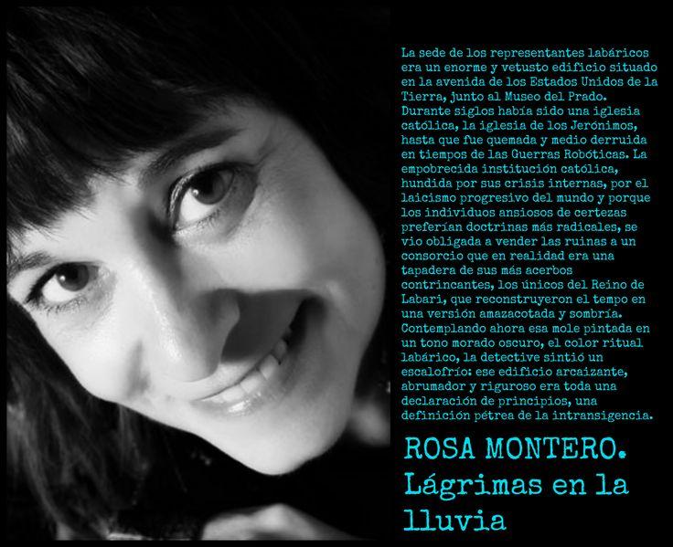Rosa Montero. Lágrimas en la lluvia