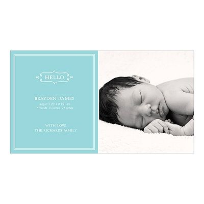 83 best stationerybabyannouncementsshowers images on pinterest baby photo birth announcements elegant greeting for a boy m4hsunfo