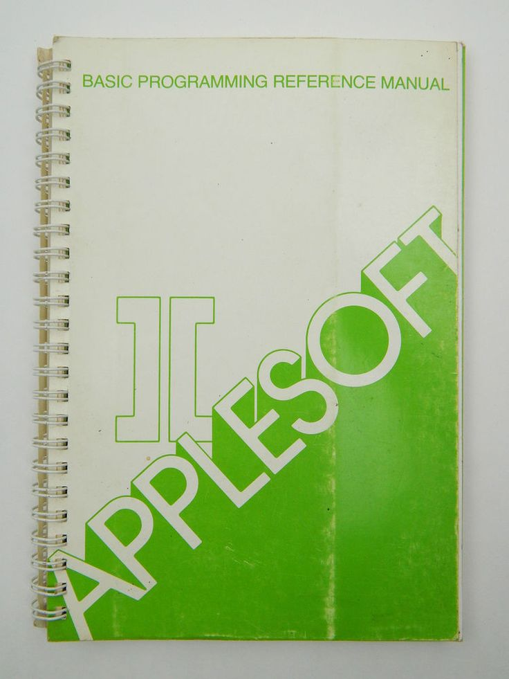 1981 APPLESOFT II BASIC PROGRAMMING REFERENCE MANUAL, VINTAGE APPLE GUIDE in Computers/Tablets & Networking   eBay