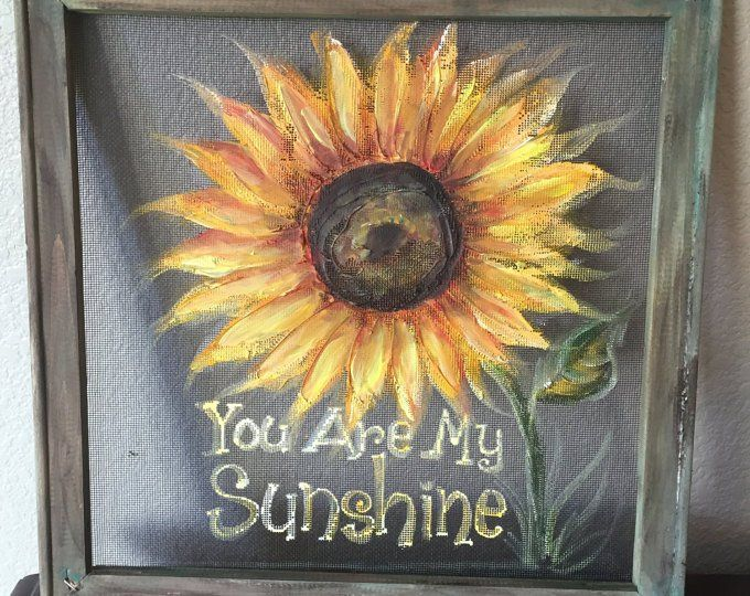 Let Your Light Shine Flowers On Screen Recycled Window Etsy Window Crafts Hand Painting Art Painted Window Screens