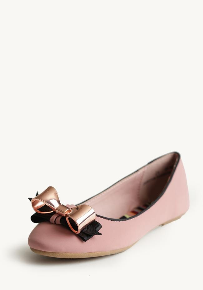 at Ruche // pink flats with double bows