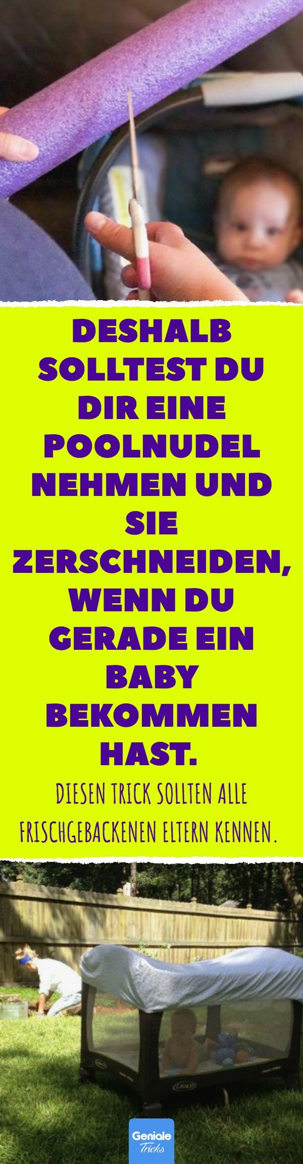 Deshalb solltest du dir eine Poolnudel nehmen und sie zerschneiden, wenn du gerade ein Baby bekommen hast. Diesen Trick sollten alle frischgebackenen …