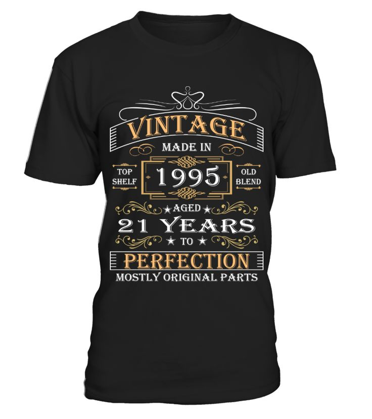 21st Birthday Gift Vintage Made In 1995   #parents #father #family #grandparents #mother #giftformom #giftforparents #giftforfather #giftforfamily #giftforgrandparents #giftformother #hoodie #ideas #image #photo #shirt #tshirt
