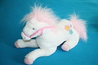pony: Horses Ponies, Hors Ponies, Plush Horses, White Pink Horses, Stuffed Animal