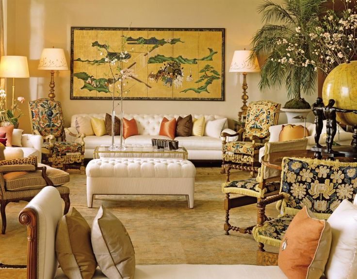Traditional Living Room By Robert Couturier In New York City Top Interior DesignersBest