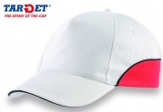 Silverstone 100% Cotton Cap with contrasting trim, Velcro adjuster.