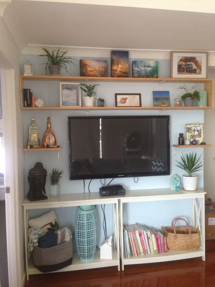 DIY shelving. Bringing the outdoor in with indoor plants.