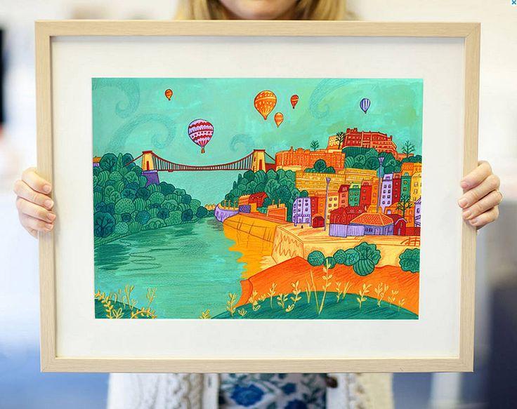 colourful bristol print by emma randall illustration | notonthehighstreet.com