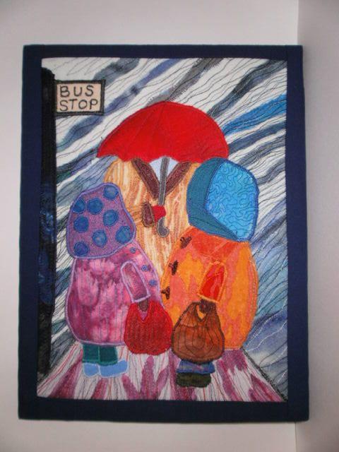 Gossip! Textile Art by wendieshouse on Etsy