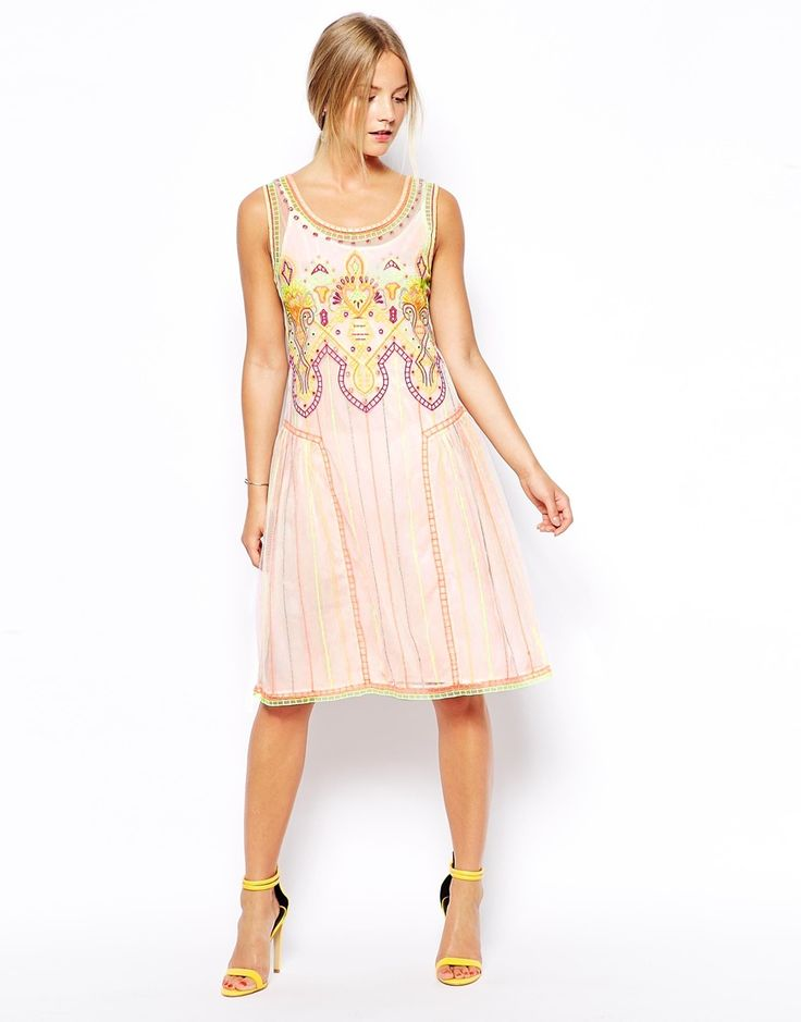Petite Summer Dress Embroidered